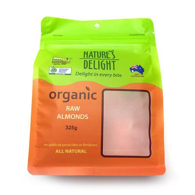 Flat bottom bag food grade packaging - Nuts reclosable bag small
