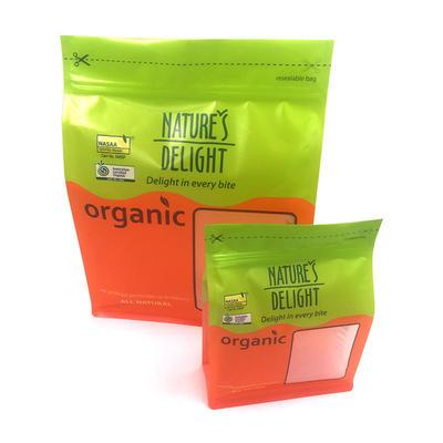 Flat bottom bag food grade packaging custom plastic bags - Nuts bag big