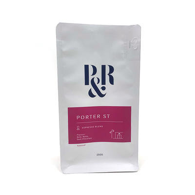 Flat bottom printed plastic bag and pouch - Coffee bag