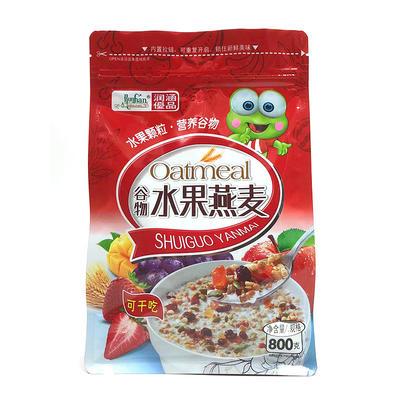 Flat bottom bag plastic food packaging printed plastic bags -Oatmeal bag